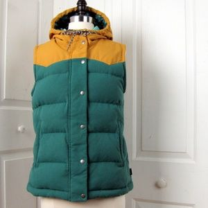 Patagonia Down Hooded Quilted Puffer Vest Jacket M